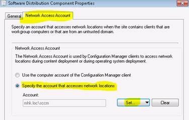 SCCM 2012: Workgroup Clients verwalten – Network Access
